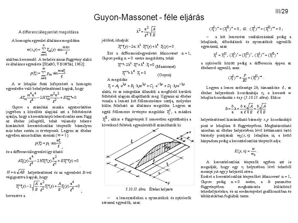 Guyon-Massonet - féle eljárás