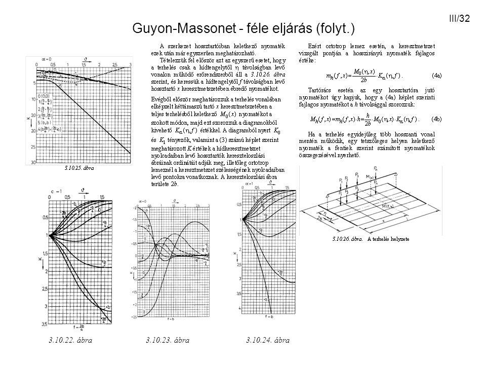 Guyon-Massonet - féle eljárás (folyt.)