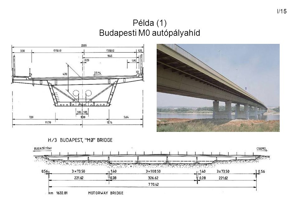 Példa (1) Budapesti M0 autópályahíd