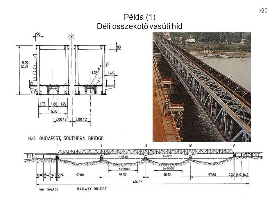 Példa (1) Déli összekötő vasúti híd