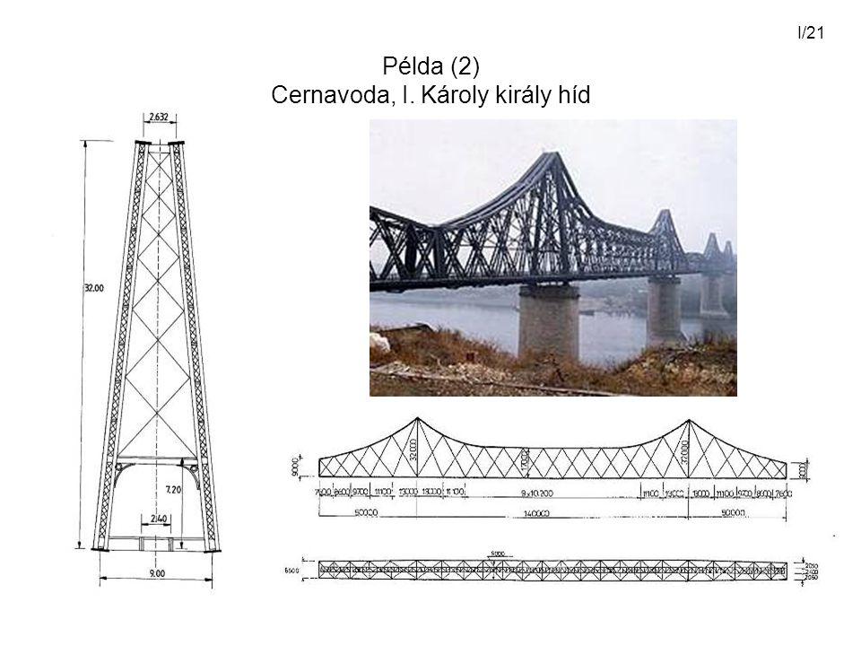 Példa (2) Cernavoda, I. Károly király híd