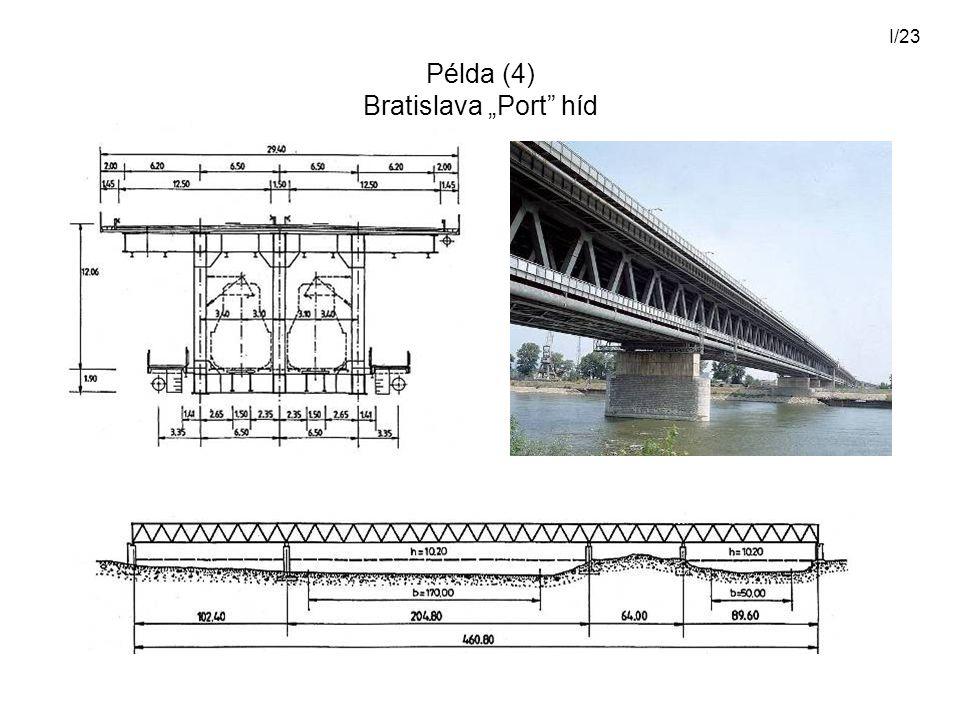 """Példa (4) Bratislava """"Port híd"""