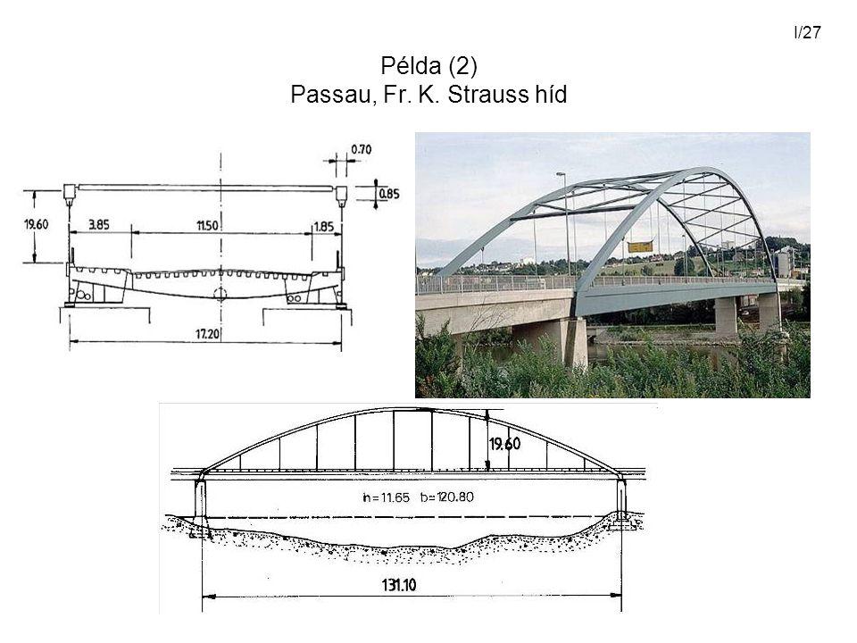 Példa (2) Passau, Fr. K. Strauss híd