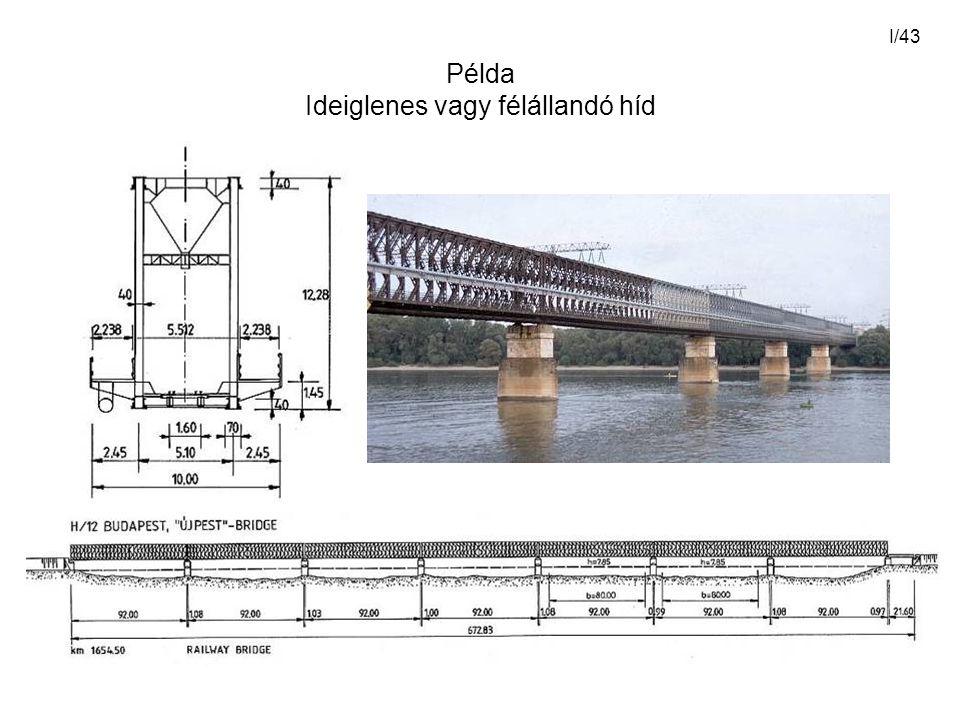 Példa Ideiglenes vagy félállandó híd