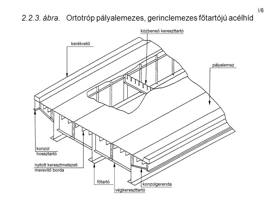 2.2.3. ábra. Ortotróp pályalemezes, gerinclemezes főtartójú acélhíd