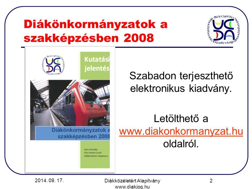 Diákönkormányzatok a szakképzésben 2008