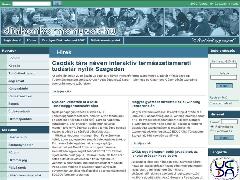 Diákközéletért Alapítvány www.diakjog.hu