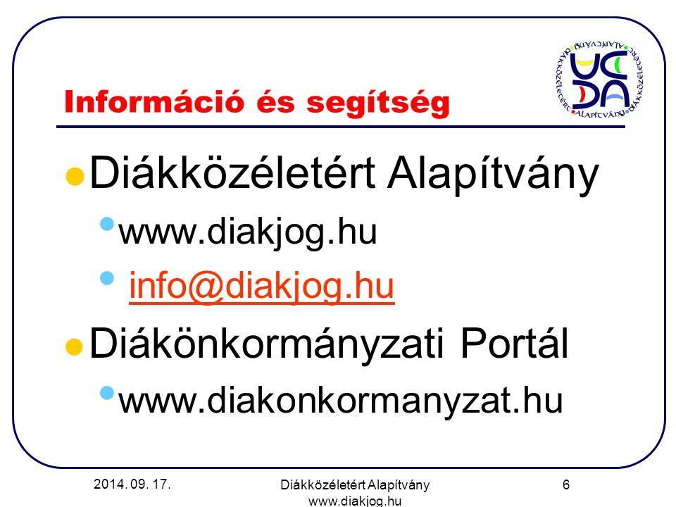 Információ és segítség