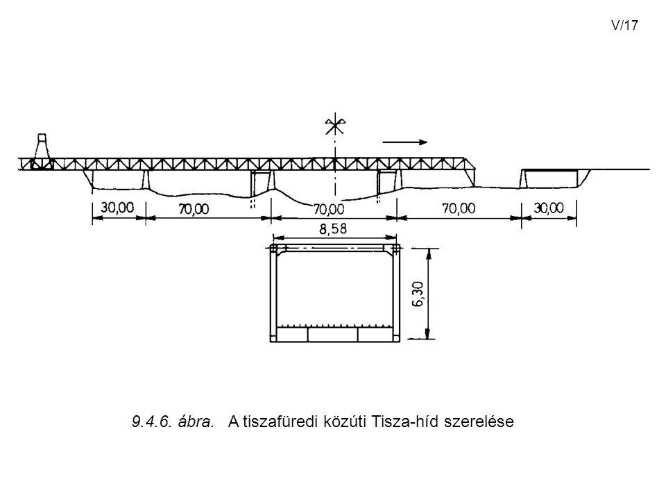 9.4.6. ábra. A tiszafüredi közúti Tisza-híd szerelése