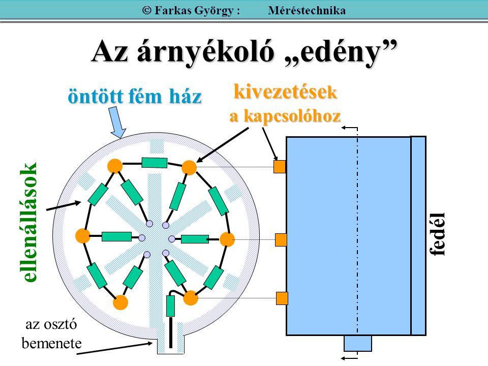  Farkas György : Méréstechnika kivezetések a kapcsolóhoz