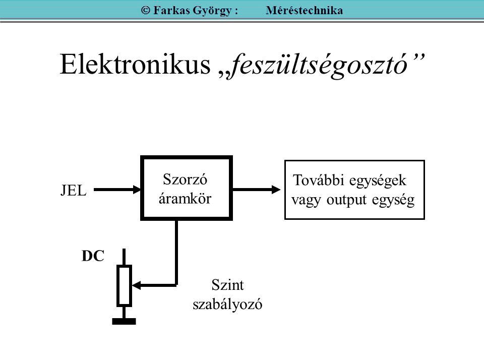 """Elektronikus """"feszültségosztó"""
