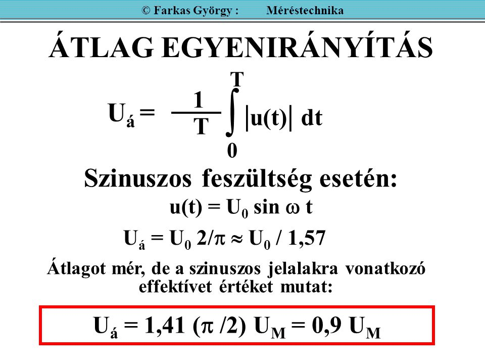 © Farkas György : Méréstechnika