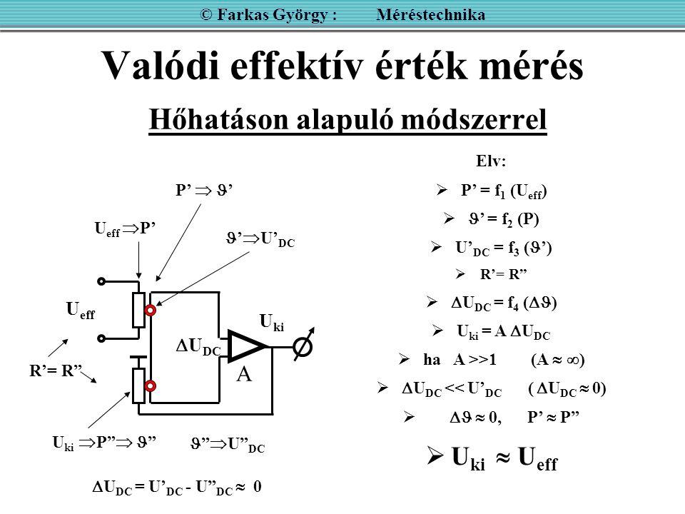 Valódi effektív érték mérés Hőhatáson alapuló módszerrel
