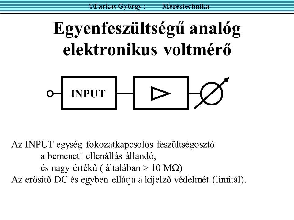 Egyenfeszültségű analóg elektronikus voltmérő