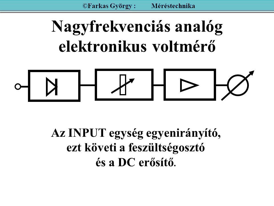Nagyfrekvenciás analóg elektronikus voltmérő