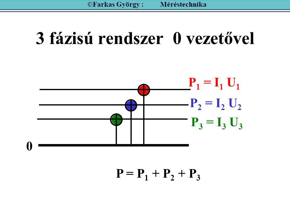 3 fázisú rendszer 0 vezetővel