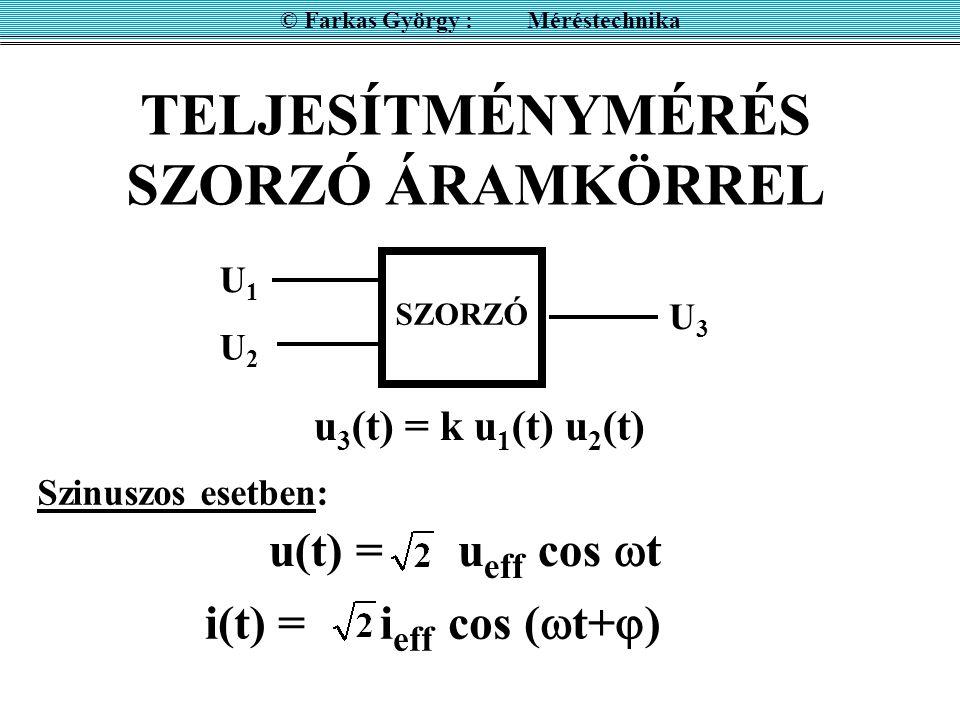 TELJESÍTMÉNYMÉRÉS SZORZÓ ÁRAMKÖRREL