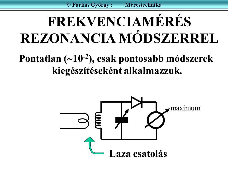 FREKVENCIAMÉRÉS REZONANCIA MÓDSZERREL