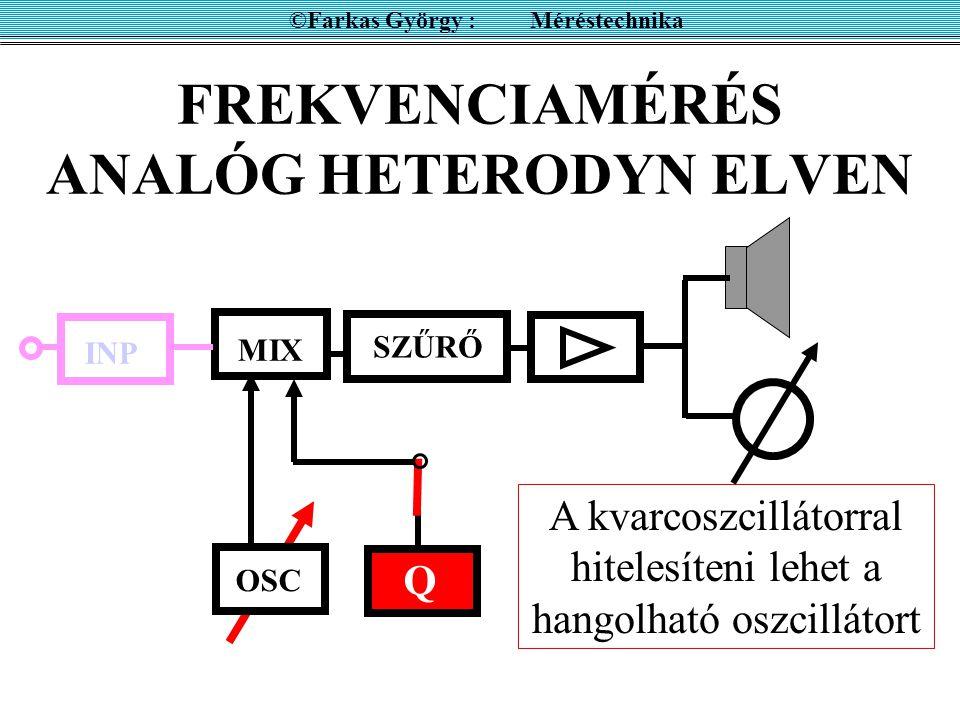 FREKVENCIAMÉRÉS ANALÓG HETERODYN ELVEN