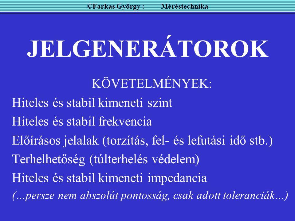 ©Farkas György : Méréstechnika
