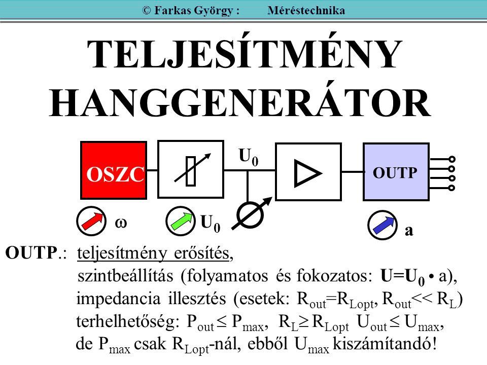 TELJESÍTMÉNY HANGGENERÁTOR
