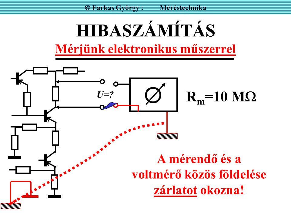 HIBASZÁMÍTÁS Mérjünk elektronikus műszerrel