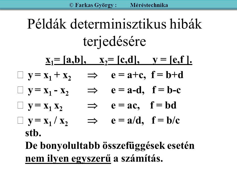 Példák determinisztikus hibák terjedésére