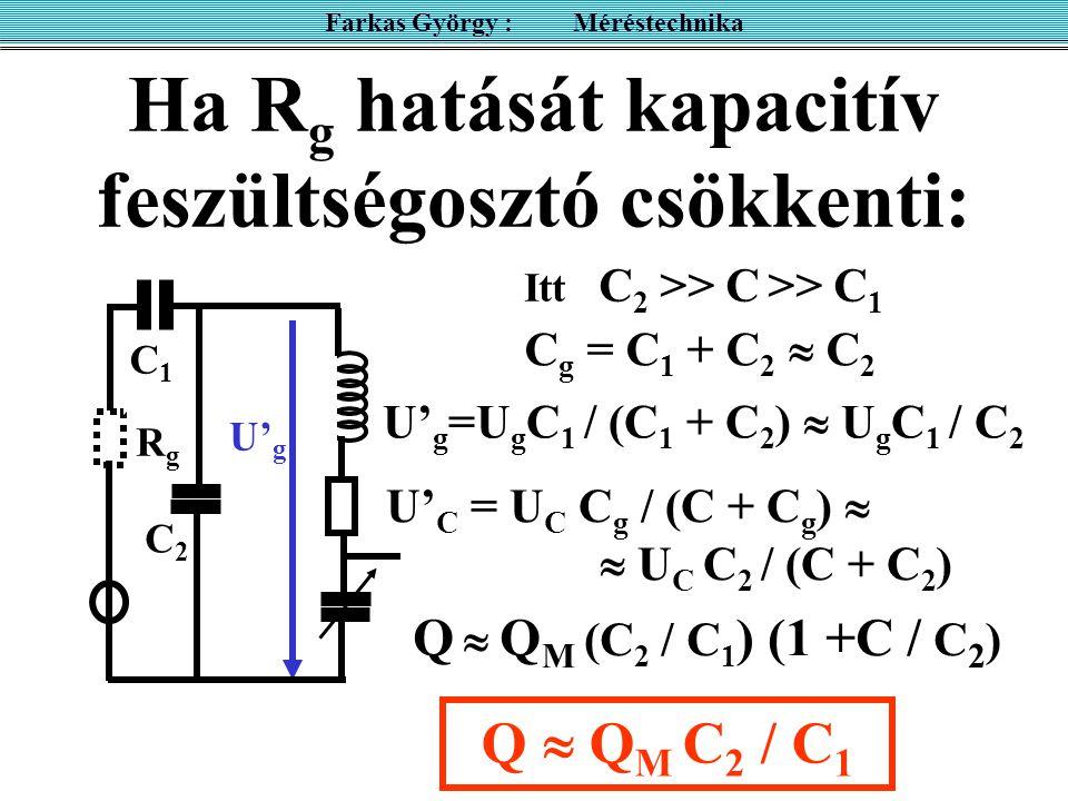 Ha Rg hatását kapacitív feszültségosztó csökkenti: