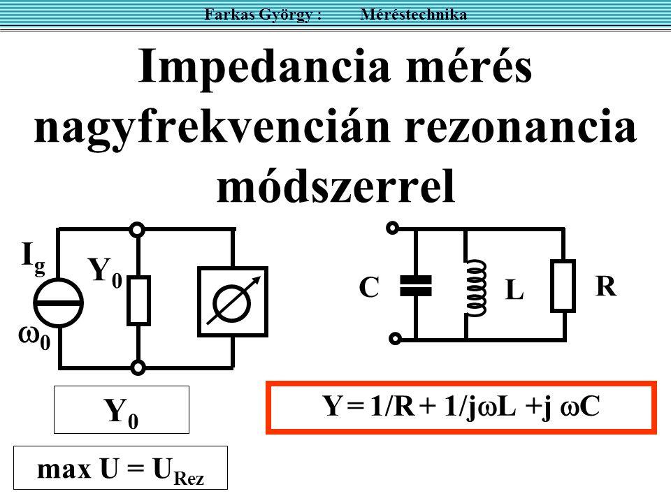 Impedancia mérés nagyfrekvencián rezonancia módszerrel