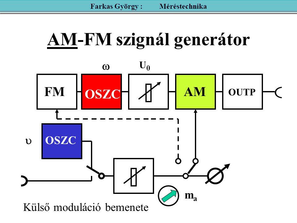 AM-FM szignál generátor