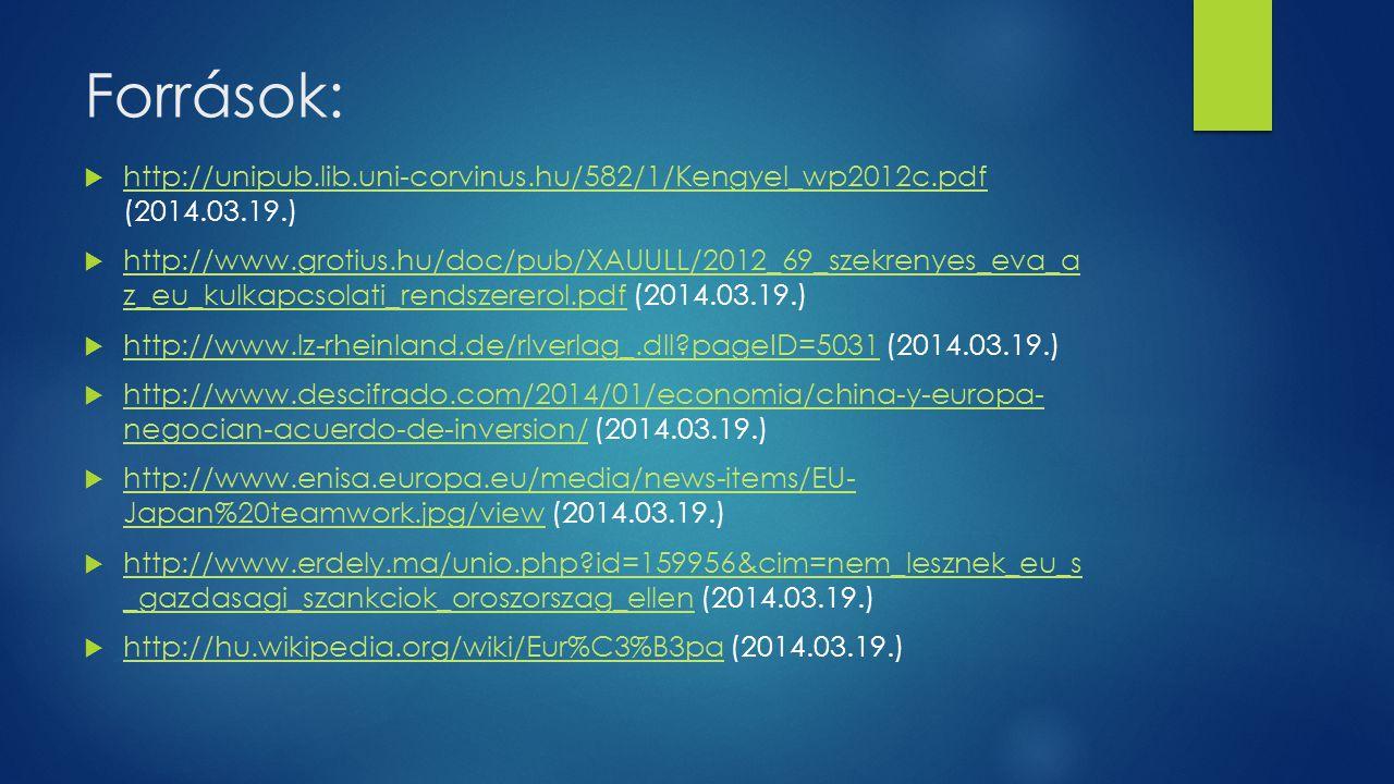 Források: http://unipub.lib.uni-corvinus.hu/582/1/Kengyel_wp2012c.pdf (2014.03.19.)