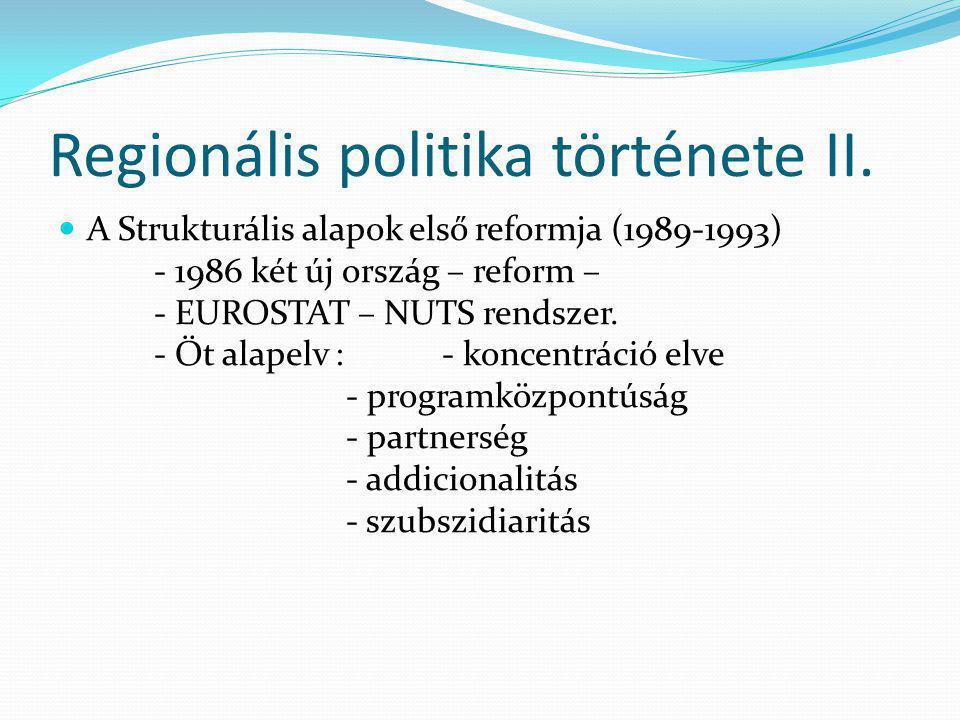 Regionális politika története II.