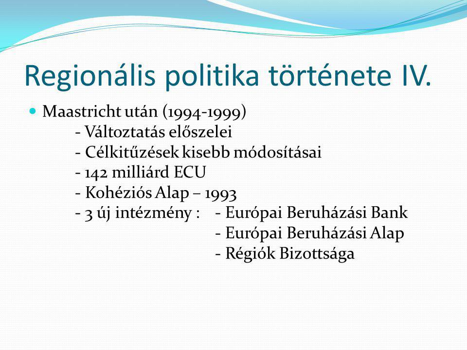 Regionális politika története IV.
