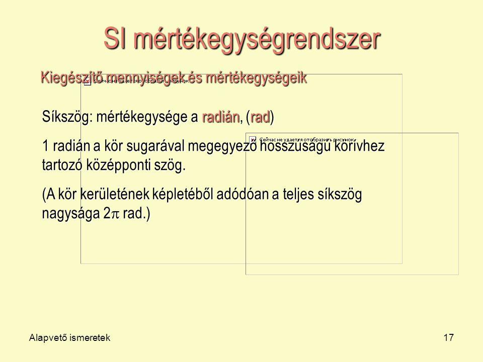 SI mértékegységrendszer