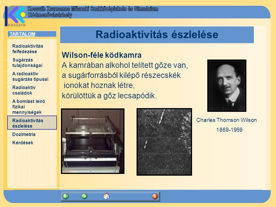 Radioaktivitás észlelése