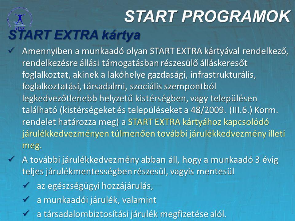 START PROGRAMOK START EXTRA kártya