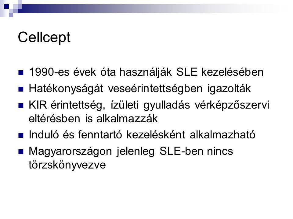 Cellcept 1990-es évek óta használják SLE kezelésében