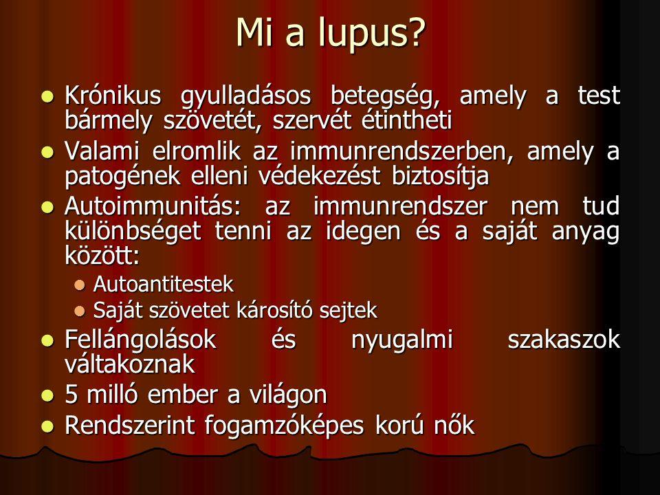 Mi a lupus Krónikus gyulladásos betegség, amely a test bármely szövetét, szervét étintheti.