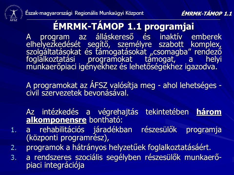 ÉMRMK-TÁMOP 1.1 programjai
