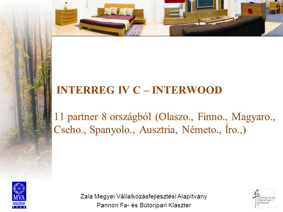 INTERREG IV C – INTERWOOD 11 partner 8 országból (Olaszo. , Finno