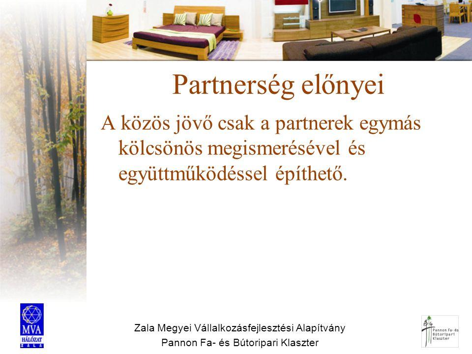 Partnerség előnyei A közös jövő csak a partnerek egymás kölcsönös megismerésével és együttműködéssel építhető.
