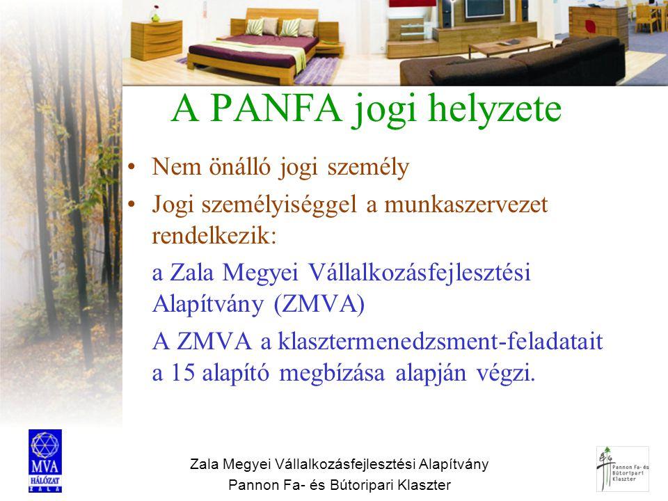 A PANFA jogi helyzete Nem önálló jogi személy