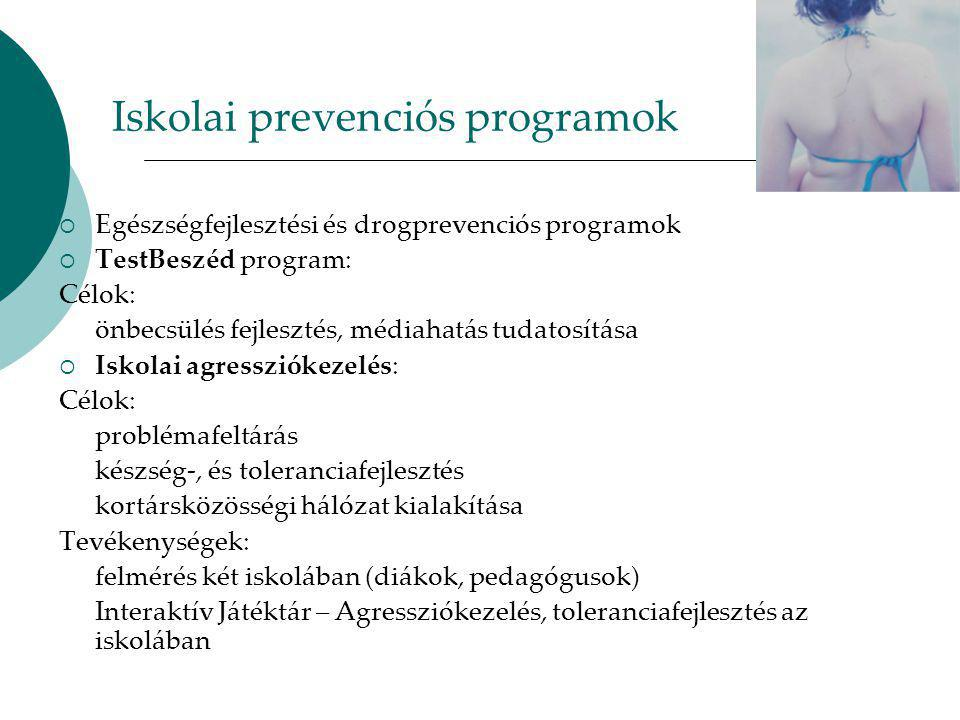 Iskolai prevenciós programok