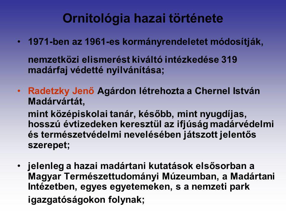 Ornitológia hazai története