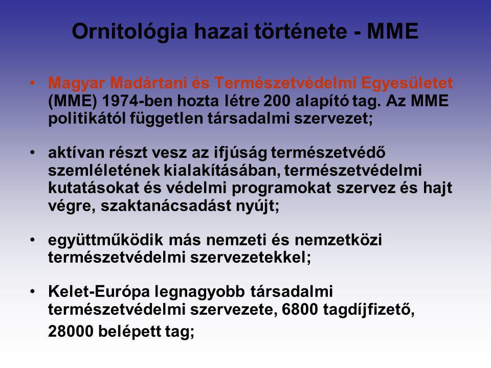 Ornitológia hazai története - MME