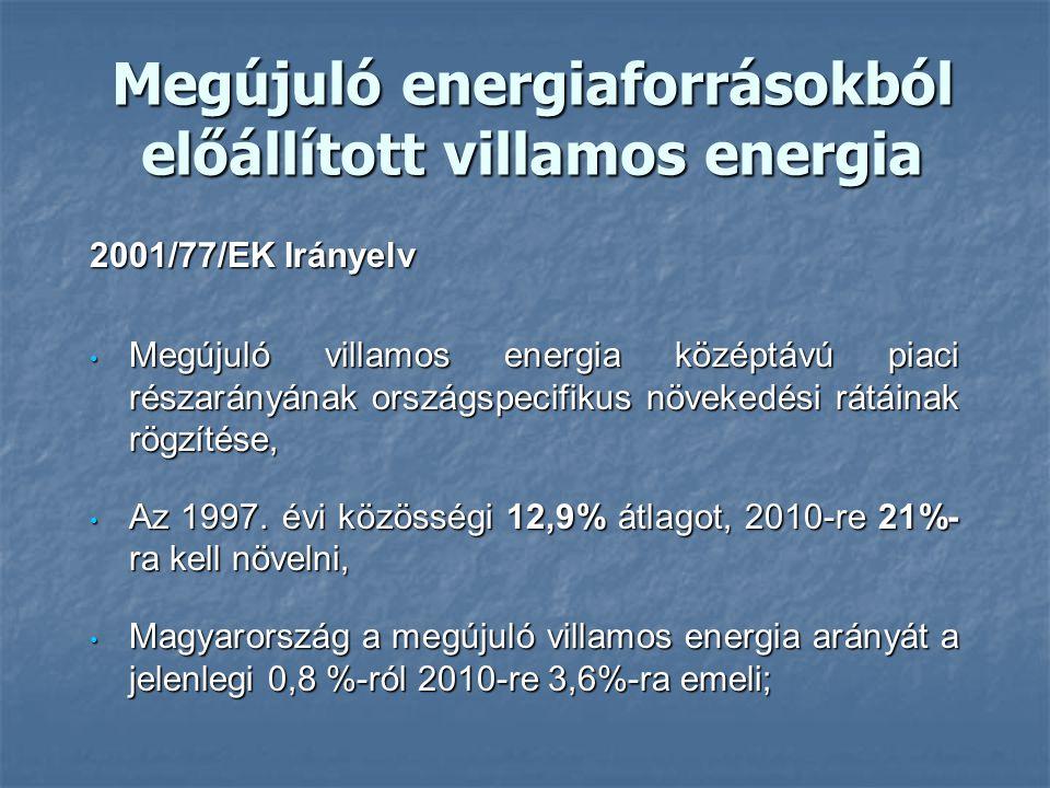 Megújuló energiaforrásokból előállított villamos energia
