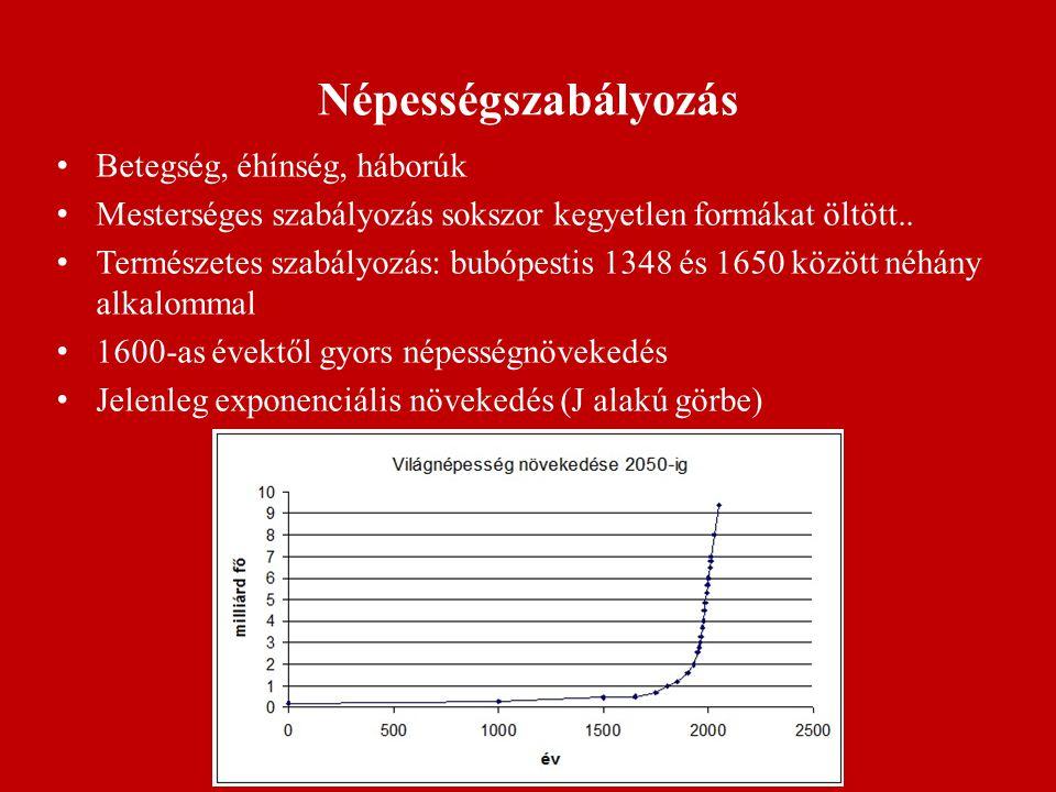 Népességszabályozás Betegség, éhínség, háborúk