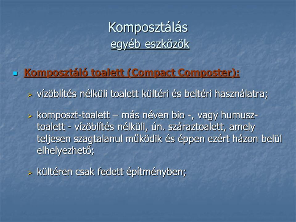 Komposztálás egyéb eszközök