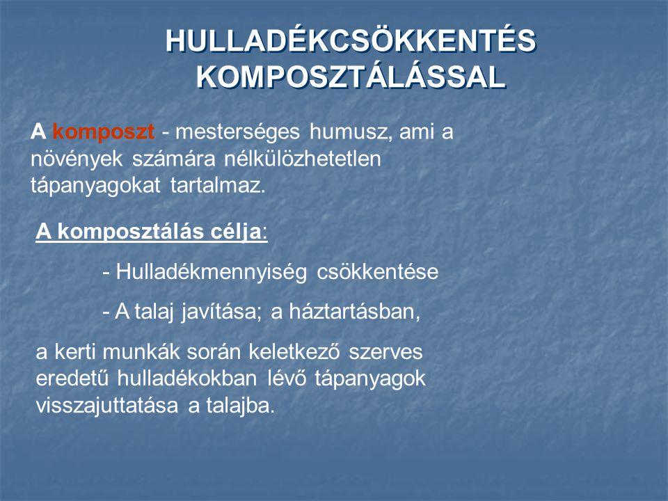 HULLADÉKCSÖKKENTÉS KOMPOSZTÁLÁSSAL