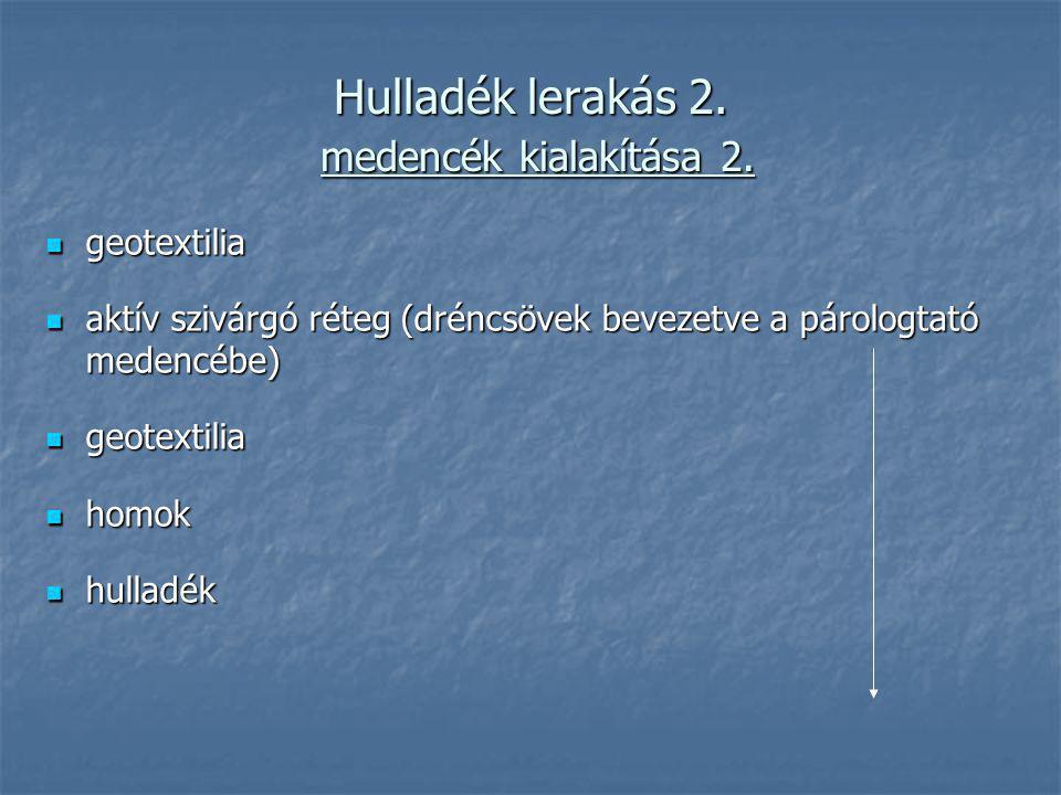 Hulladék lerakás 2. medencék kialakítása 2.